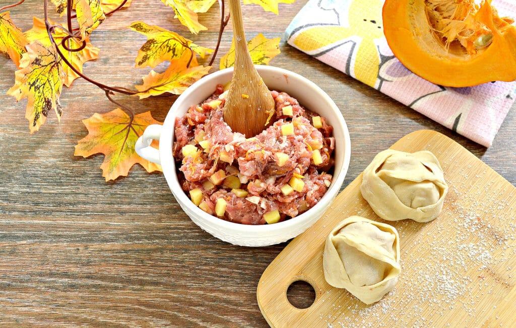 Фото рецепта - Начинка для мантов с фаршем, тыквой и картофелем - шаг 7