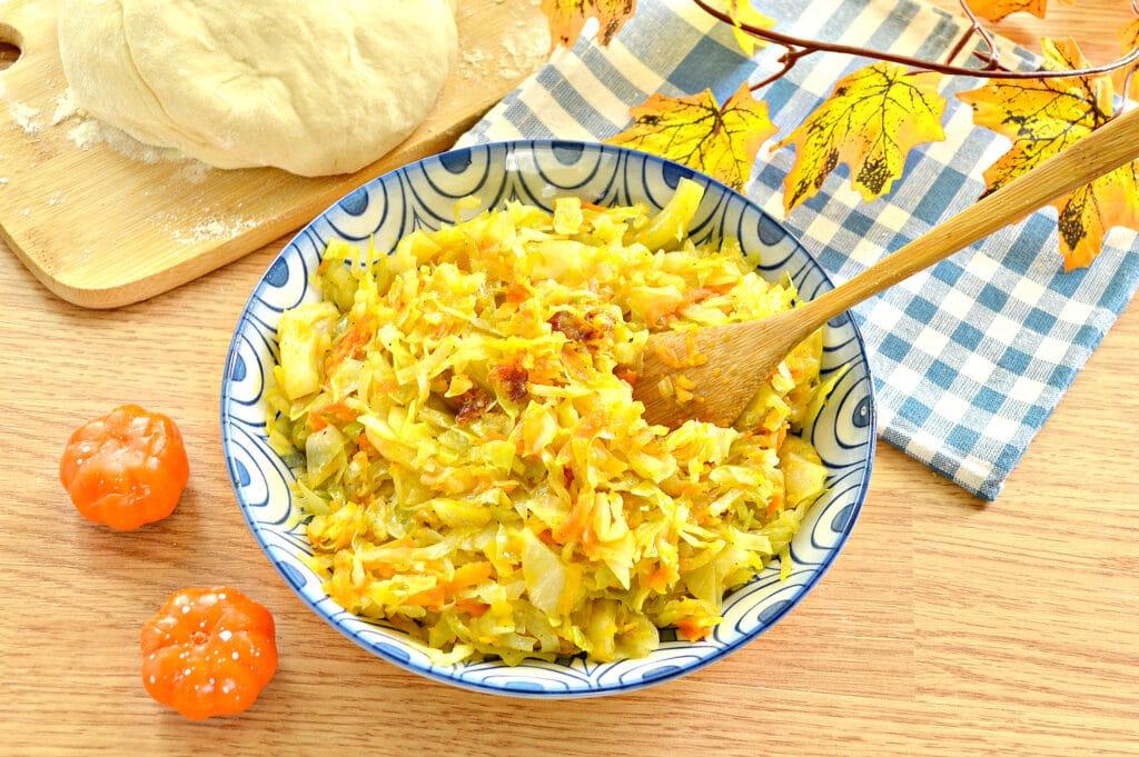 Фото рецепта - Начинка для пирогов из капусты и тыквы - шаг 7
