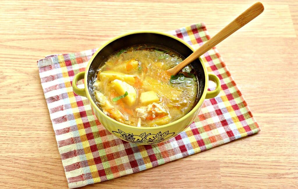 Фото рецепта - Щи с томатным соком - шаг 8