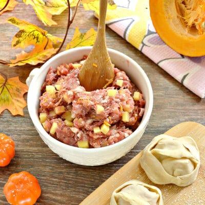 Начинка для мантов с фаршем, тыквой и картофелем - рецепт с фото