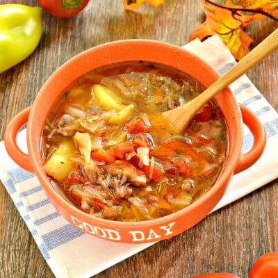 Щи с мясом и овощами - рецепт с фото