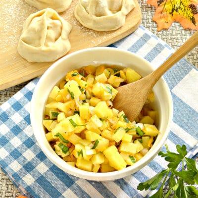 Начинка для мантов с картофелем и тыквой - рецепт с фото