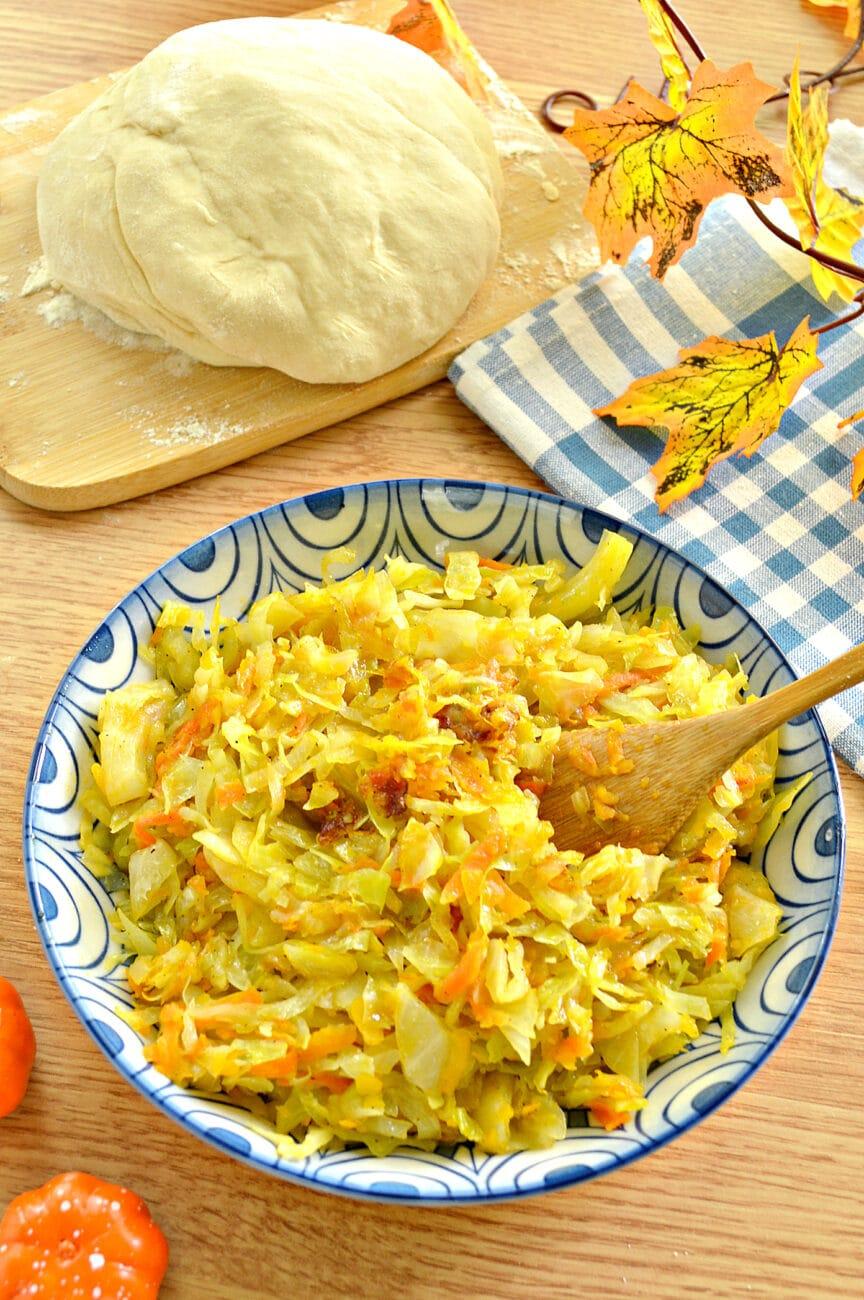 Начинка для пирогов из капусты и тыквы