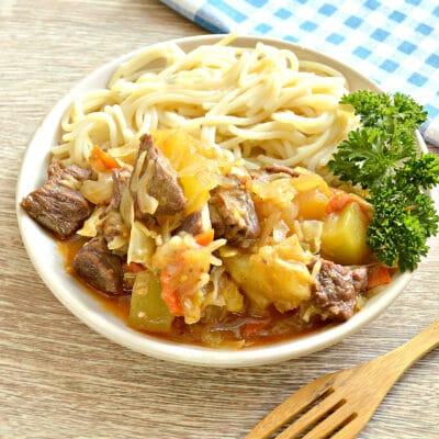 Овощное рагу с говядиной в мультиварке - рецепт с фото