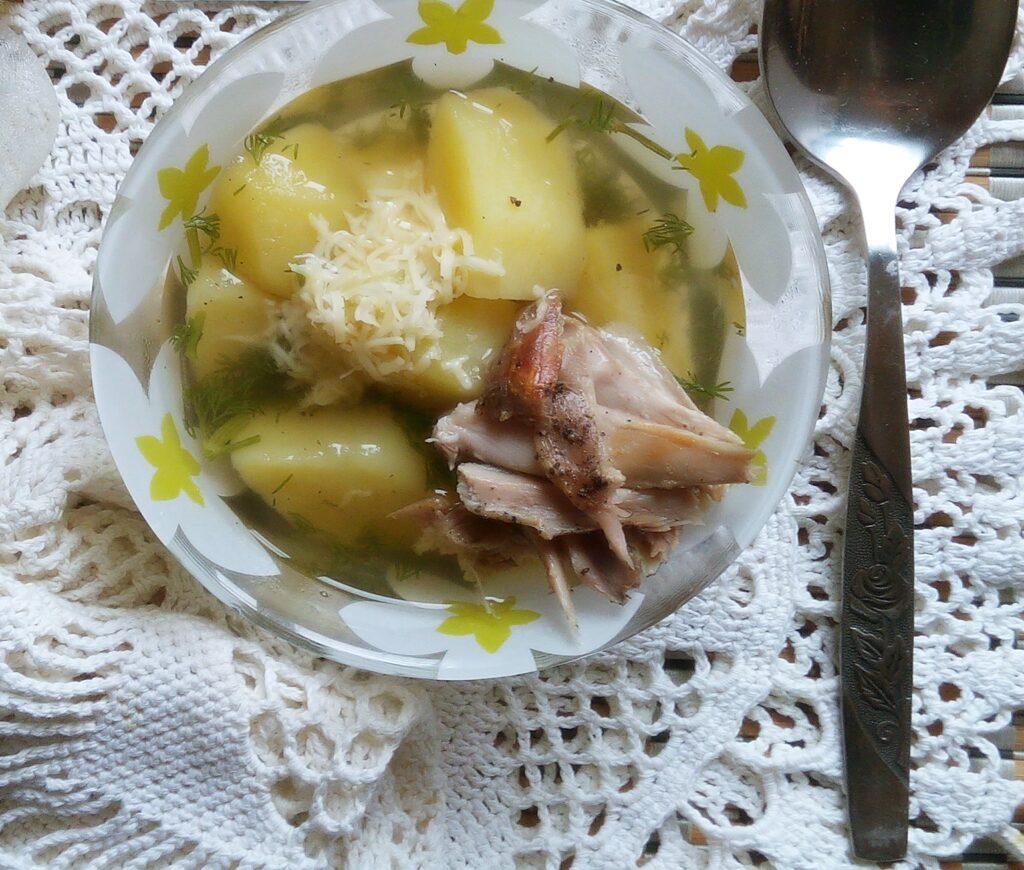 Фото рецепта - Картофельная похлебка с запеченным кроликом - шаг 8