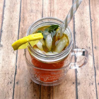 Холодный чай с лимоном и мятой - рецепт с фото