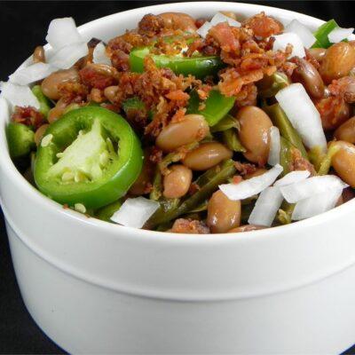 Теплый салат из фасоли - рецепт с фото