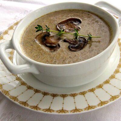 Сливочный грибной суп - рецепт с фото