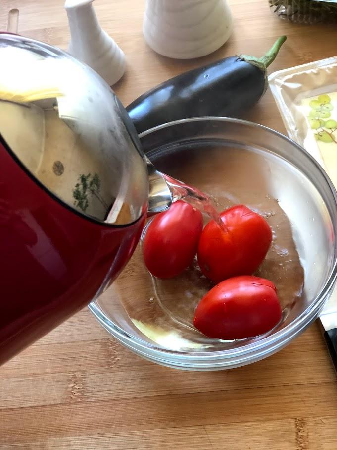 Фото рецепта - Фаршированные баклажаны с сыром и томатами - шаг 3