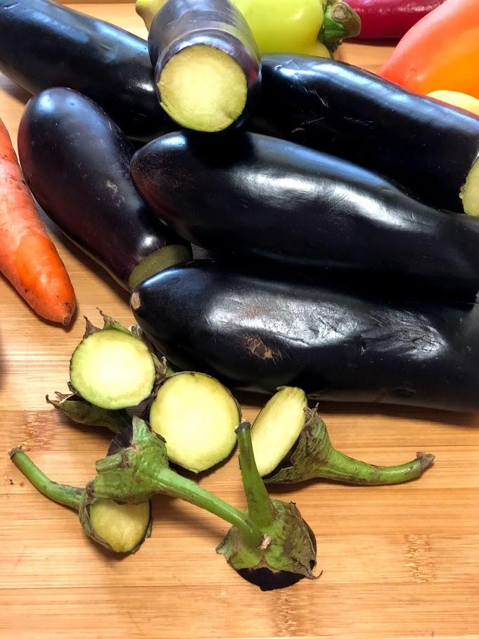"""Фото рецепта - Осенний салат из баклажанов """"грибочки"""" (соленые баклажаны) - шаг 2"""