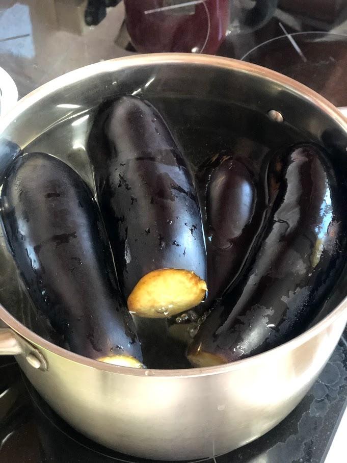 """Фото рецепта - Осенний салат из баклажанов """"грибочки"""" (соленые баклажаны) - шаг 4"""