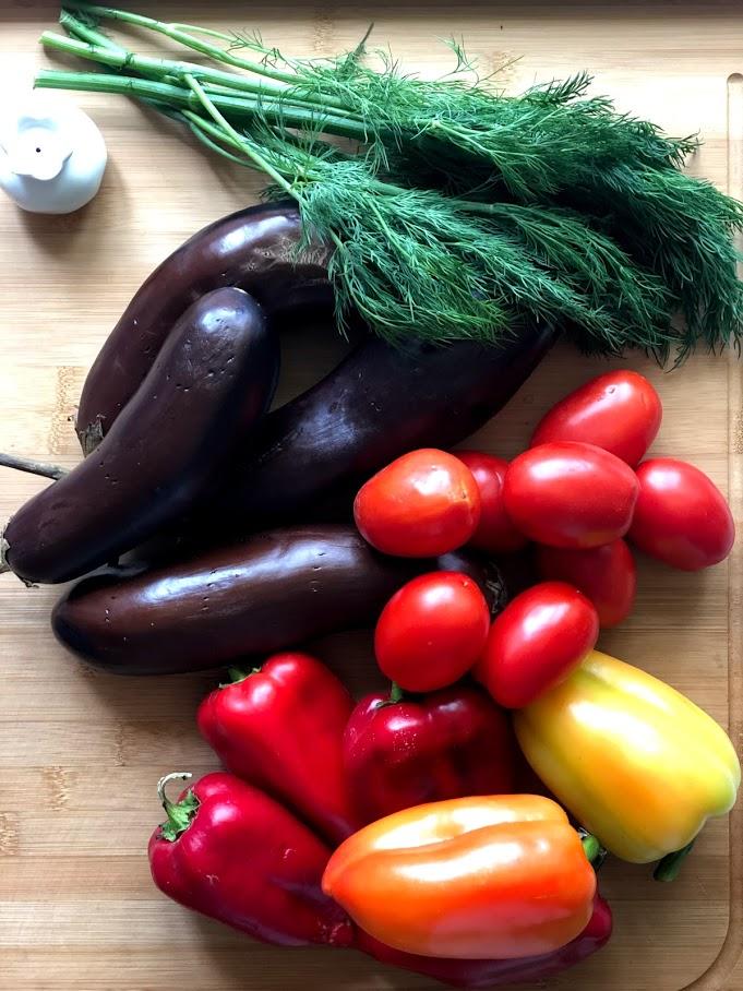 Фото рецепта - Хоровац из баклажанов (армянский салат) - шаг 1