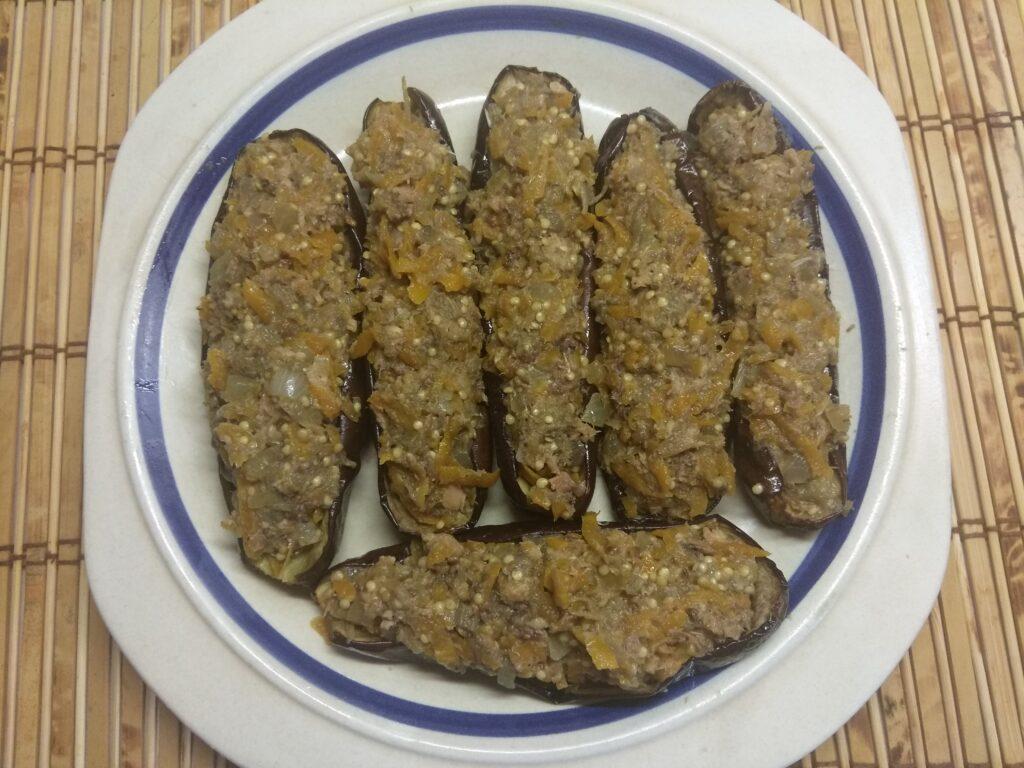 Фото рецепта - Запеченные баклажаны, фаршированные сардинами - шаг 7