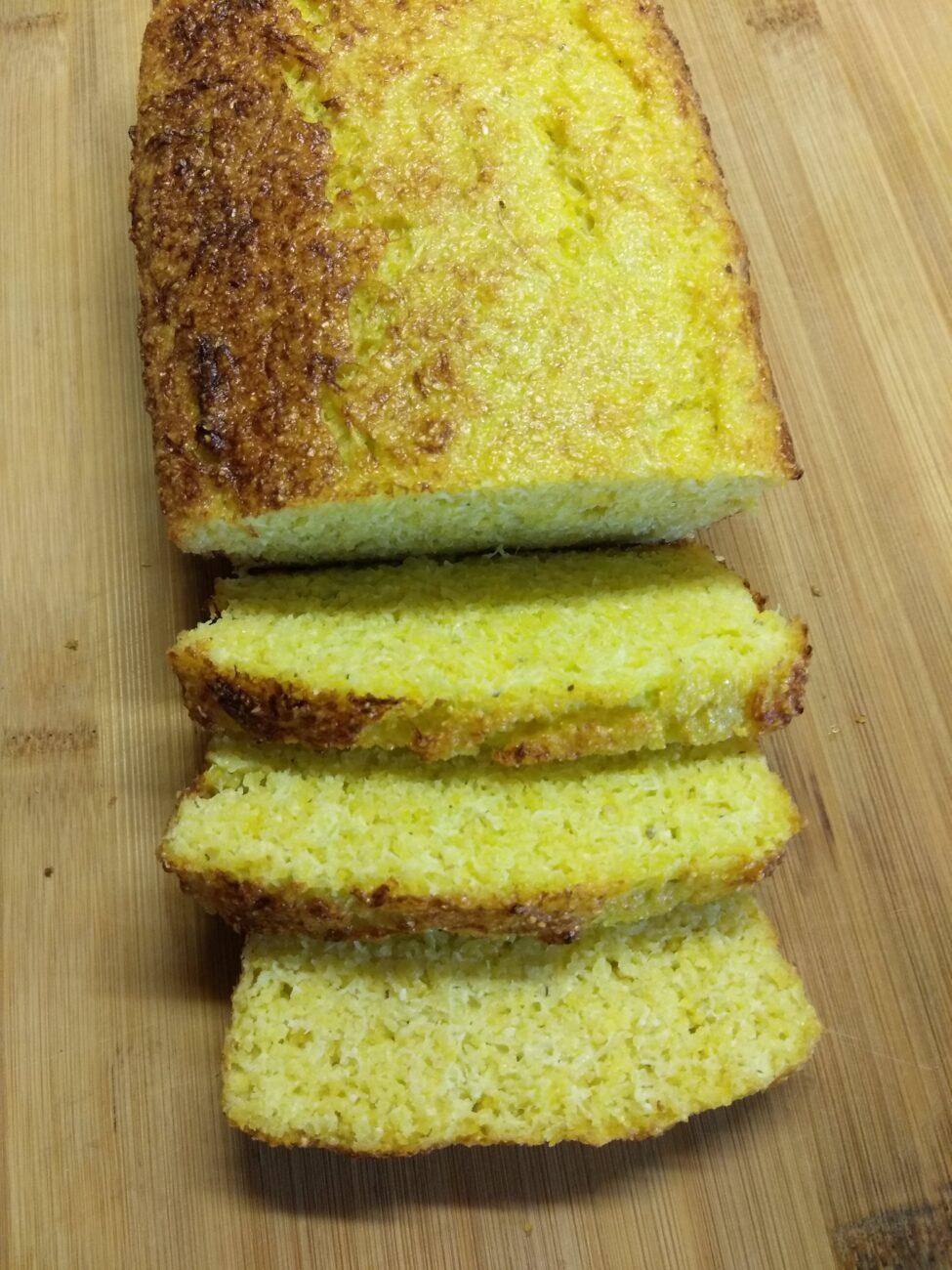 Кукурузный кекс с кабачком