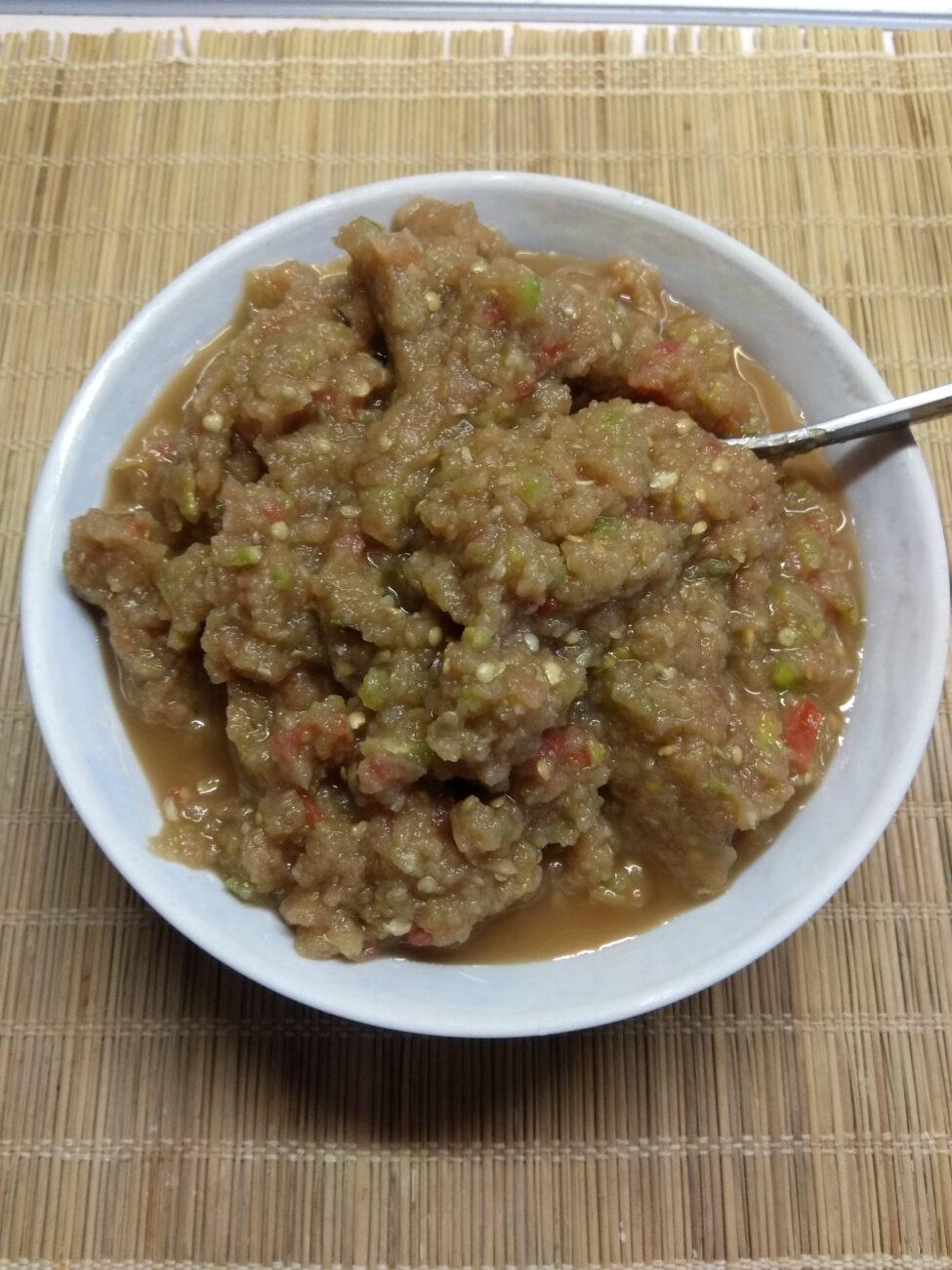 Холодная закуска из баклажанов, кабачков и помидоров