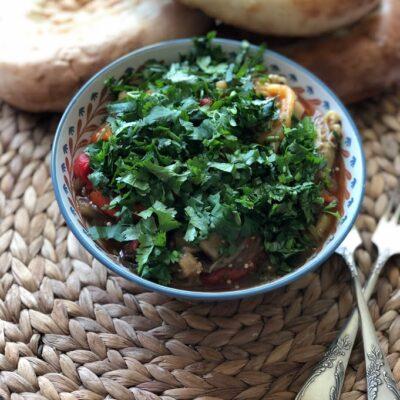 Хоровац из баклажанов (армянский салат) - рецепт с фото