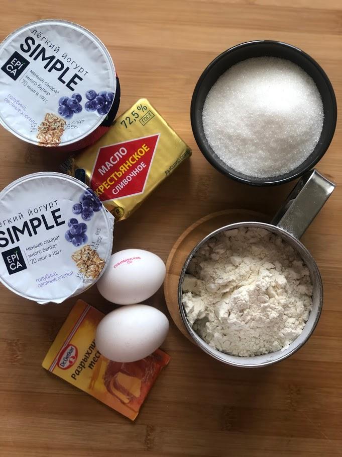 Фото рецепта - Кекс на йогурте - шаг 1