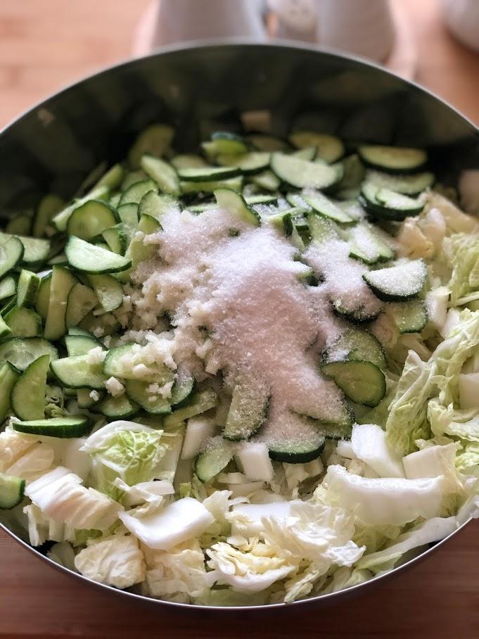 Фото рецепта - Салат из пекинской капусты и огурцов - шаг 9