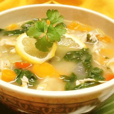 Лимонный суп с индейкой - рецепт с фото