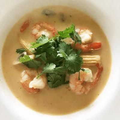 Тайский суп с креветками на кокосовом молоке - рецепт с фото