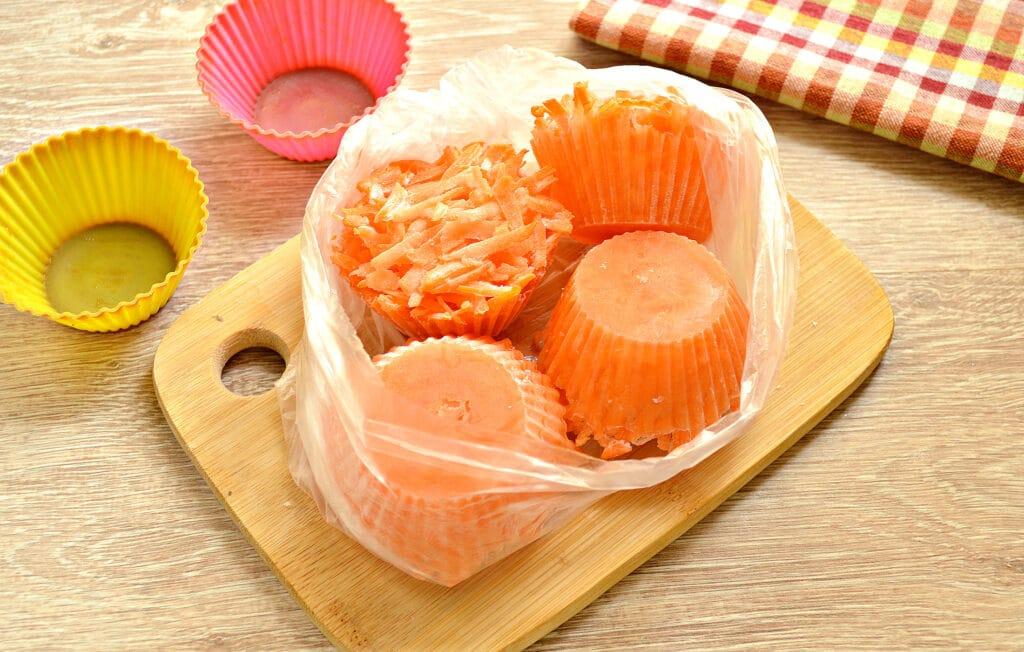 Фото рецепта - Морковь замороженная (в силиконовых формах) - шаг 7