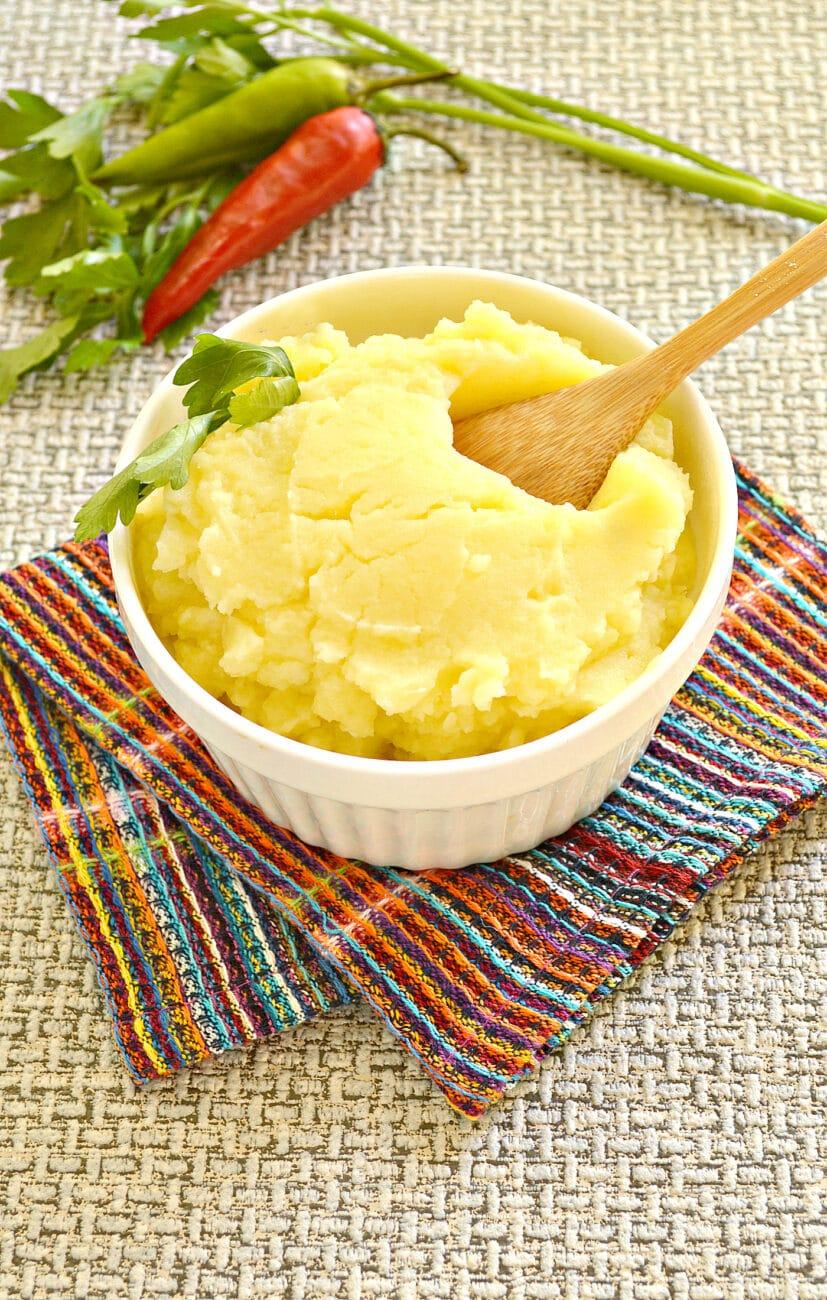 Картофельное пюре без молока с яйцом