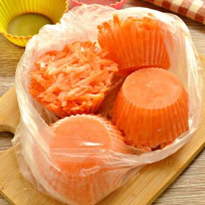 Морковь замороженная (в силиконовых формах) - рецепт с фото
