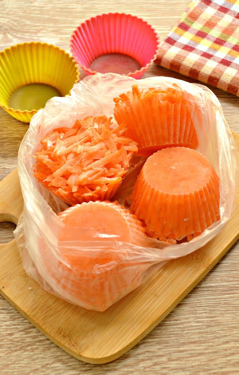 Морковь замороженная (в силиконовых формах)