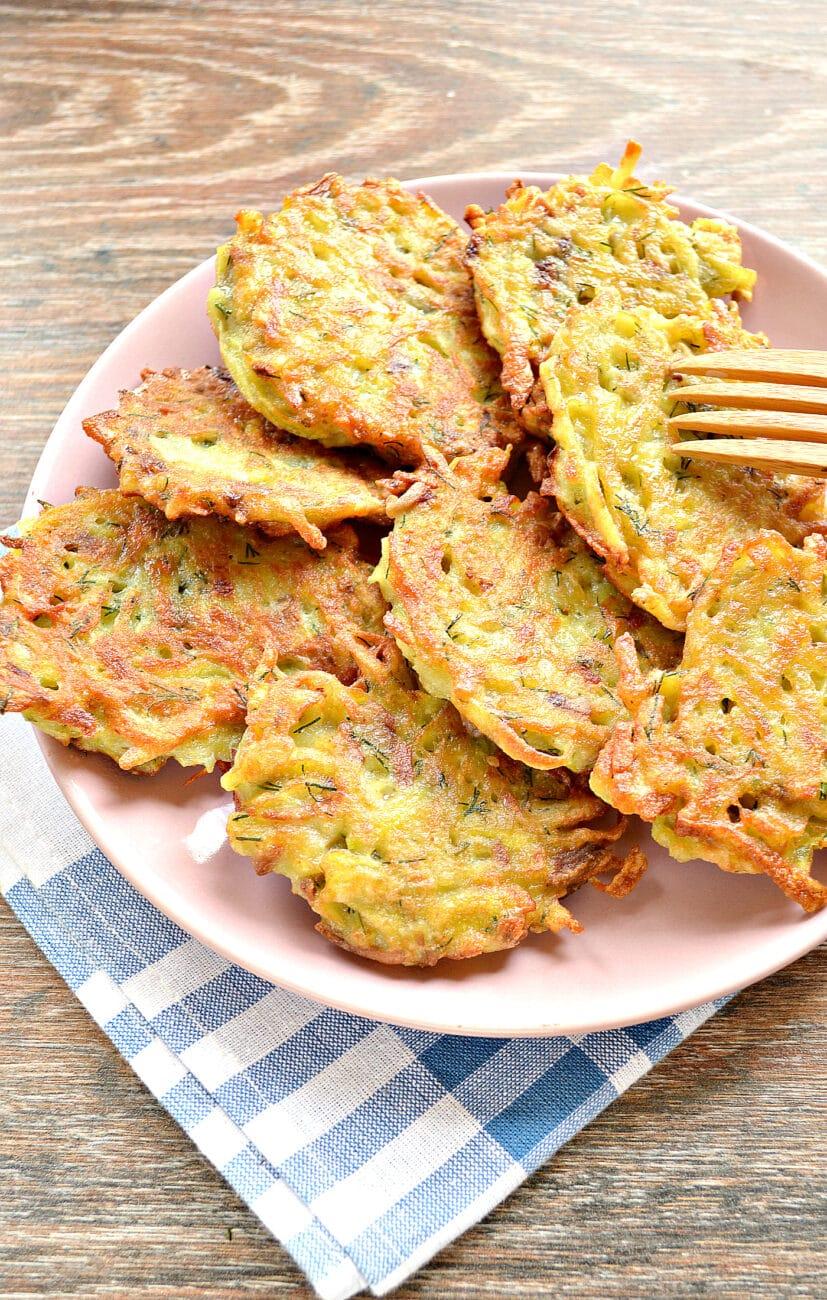 Картофельные оладьи с грибами и зеленью