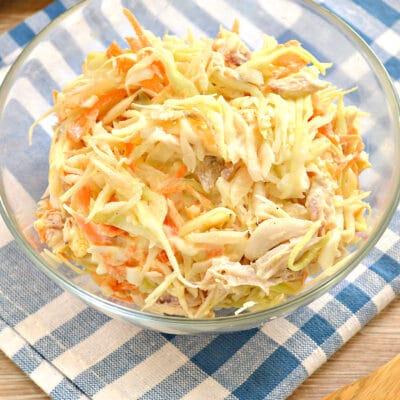 Салат со свежей капустой и курицей - рецепт с фото