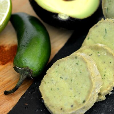 Сливочное масло с авокадо (с остринкой) - рецепт с фото