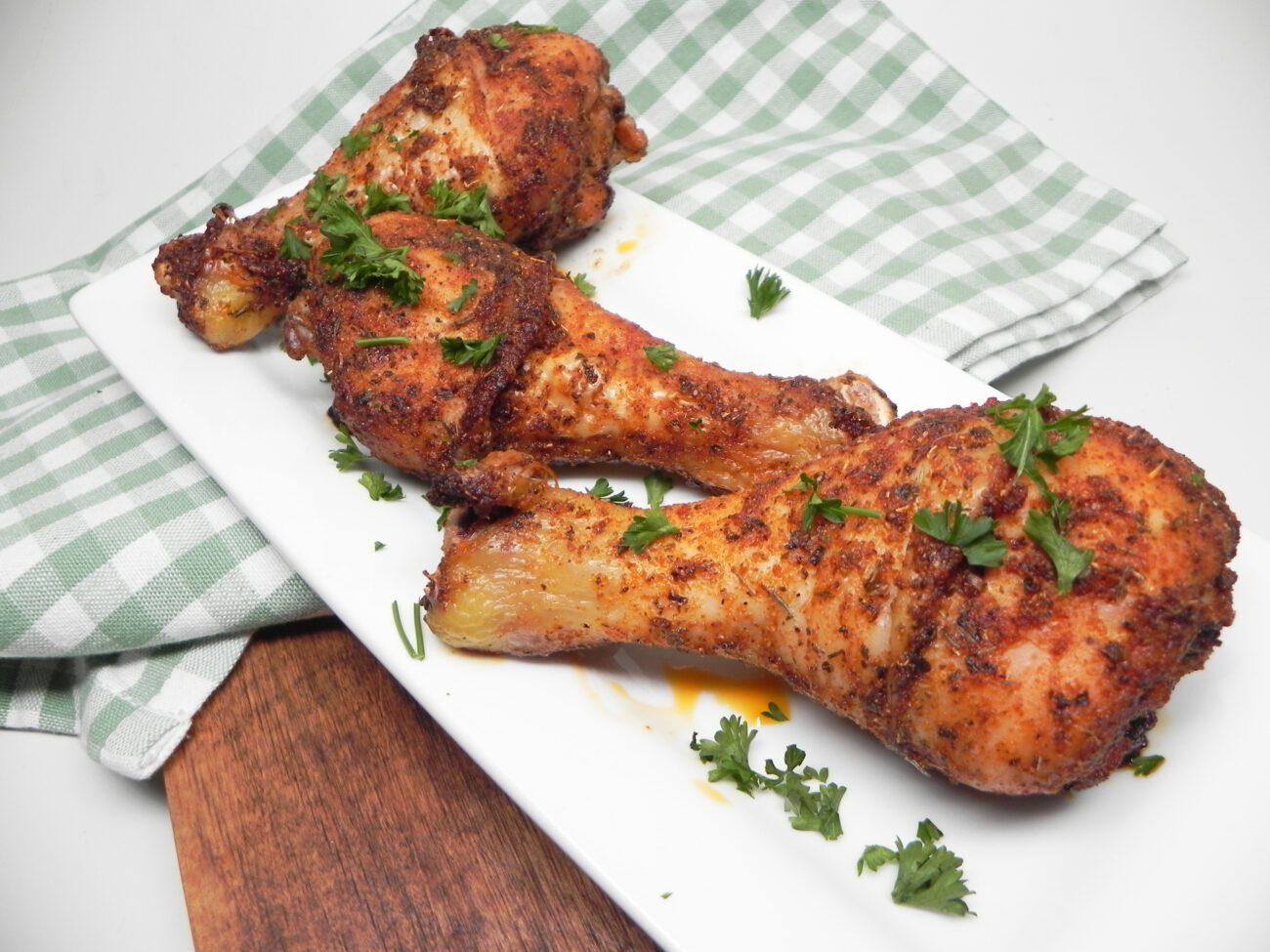 Запеченные куриные голени