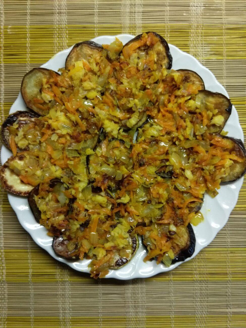 Быстрая закуска из кабачков и баклажанов