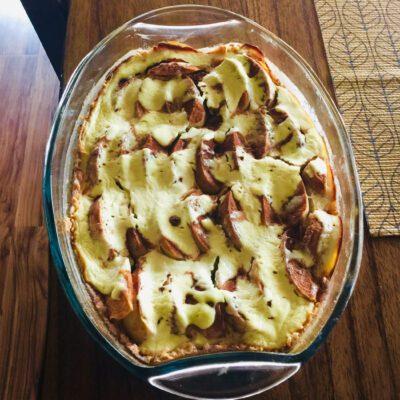 Заливной яблочный пирог с кокосом - рецепт с фото