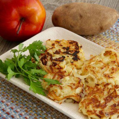 Яблочно-картофельные драники - рецепт с фото