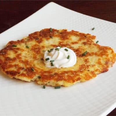 Картофельные оладьи из сухих картофельных хлопьев - рецепт с фото