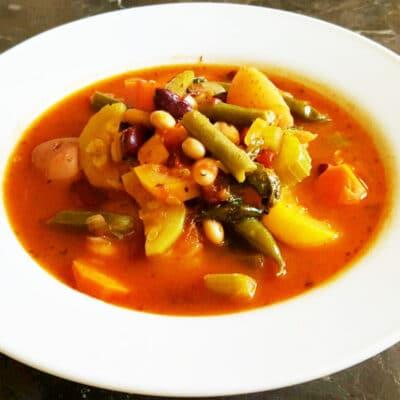 Вегетарианский Минестроне в мультиварке - рецепт с фото