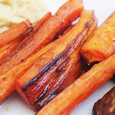 Запеченная морковь с бальзамическим уксусом - рецепт с фото