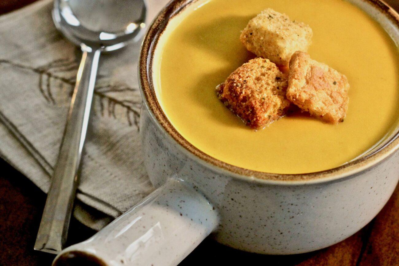 Тыквеный суп-пюре с грушей