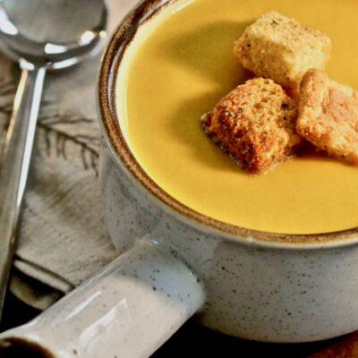 Тыквеный суп-пюре с грушей - рецепт с фото