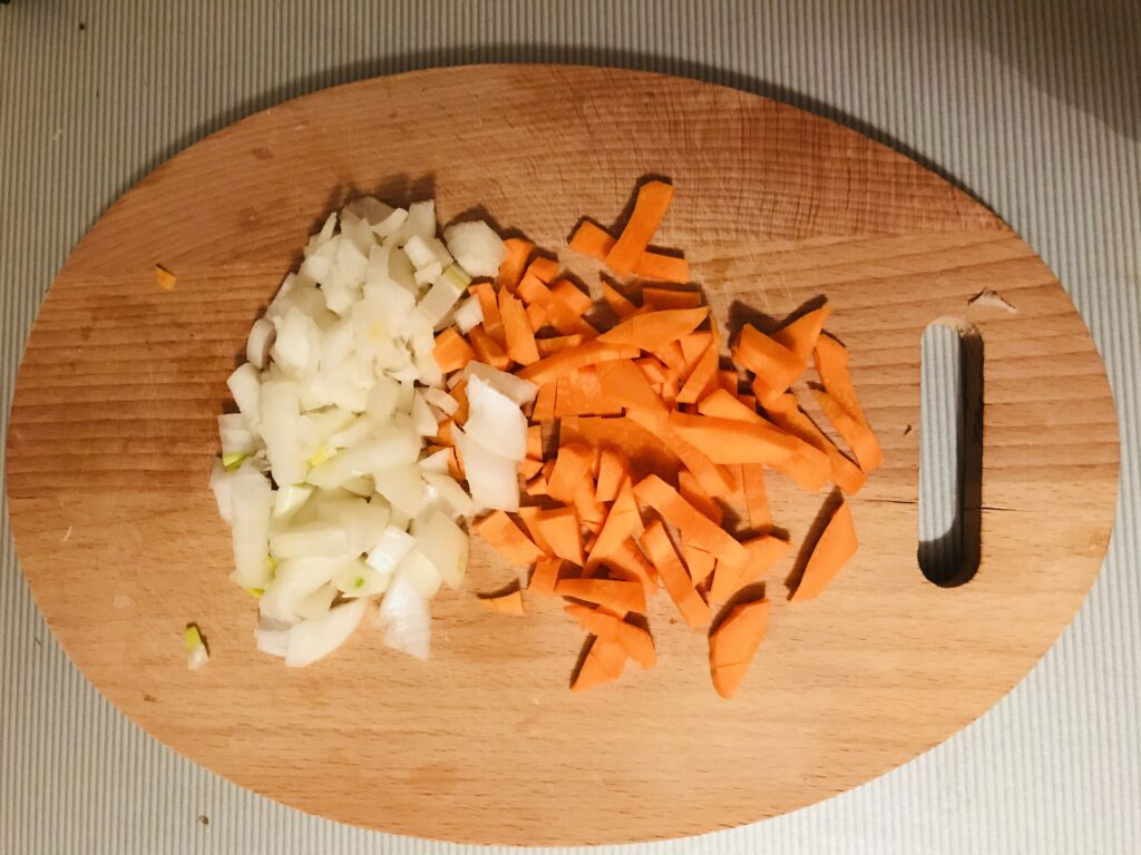 Фото рецепта - Быстрый плов на свинине с паприкой - шаг 1