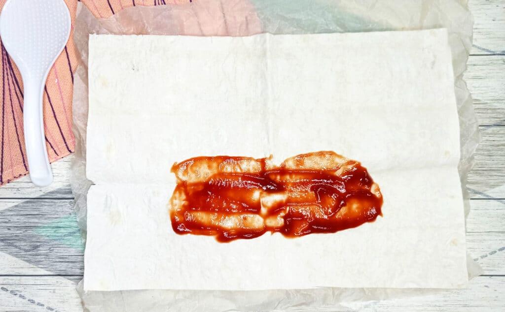 Фото рецепта - Шаурма под сыром - шаг 2