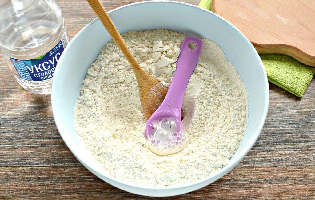 Фото рецепта - Тесто для вареников на молоке (с уксусом) - шаг 3