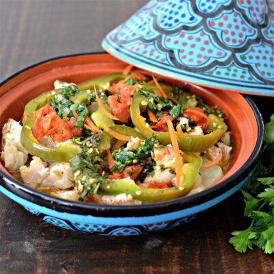 Рыбный тажин с овощами по-мароккански - рецепт с фото