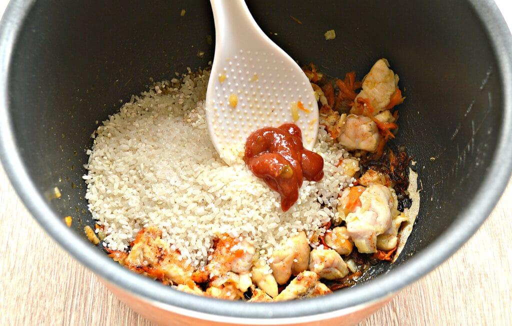 Фото рецепта - Рис по-быстрому с куриной грудкой в мультиварке - шаг 4