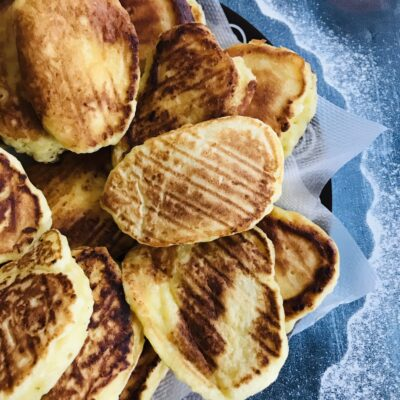Творожные оладьи на сковороде гриль - рецепт с фото