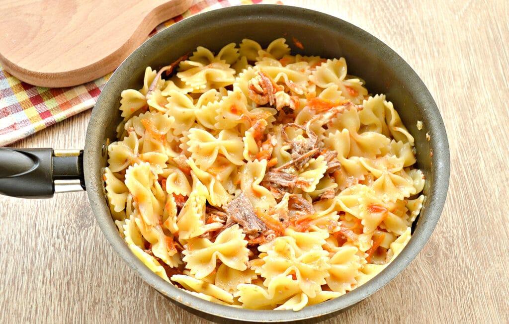 Фото рецепта - Быстрый ужин на сковороде - шаг 5