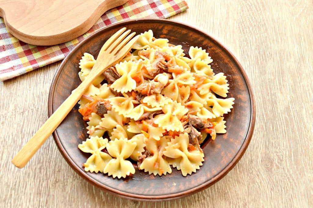 Фото рецепта - Быстрый ужин на сковороде - шаг 6