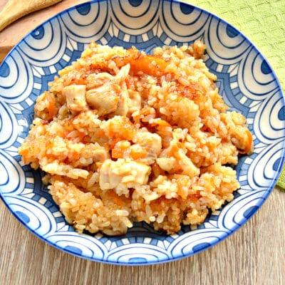 Рис по-быстрому с куриной грудкой в мультиварке - рецепт с фото