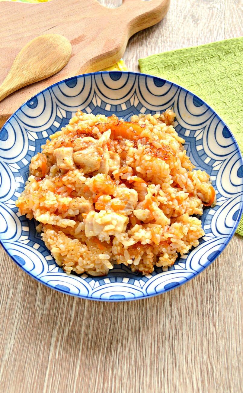 Рис по-быстрому с куриной грудкой в мультиварке